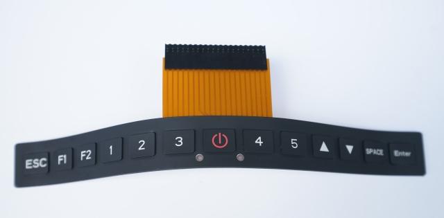 橡胶按键结合铜箔线路