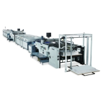 全自动滚筒式连续两色网印机