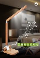 天然竹LED触控台灯
