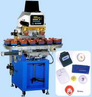 Two Color Pad Printing Machine (With 14 Stations Conveyor)