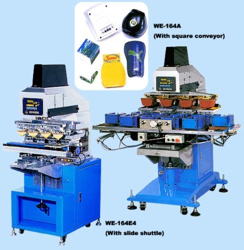方形转盘4色移印机 / 步进式4色移印机
