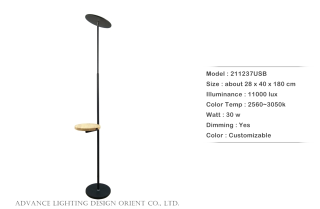 木盤圓盤立燈