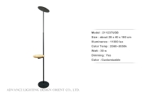 Wooden Plate Floor Lamp