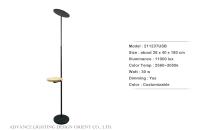 Wooden Plate Floor Lamp