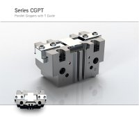 Series CGPT self-centering parallel grippers with T-guide