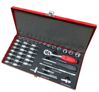 39PC 1/4Dr. socket and bit kit. ( metal case)