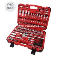 110pc  1/4+1/2dr. socket wrench set