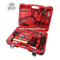 80pc 1/4+1/2Dr.socket wrench set