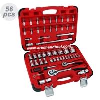 56pcs 1/4+1/2Dr. socket set