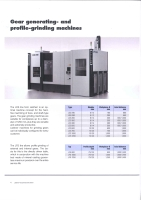 Gear generating and profile-grinding machines