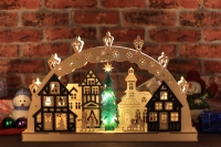 Wooden Christmas LED Decorative Light