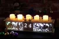 Christmas calendar candle holder