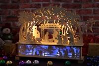 木雕剪影灯