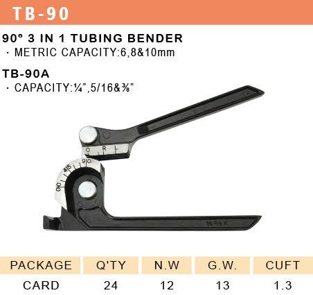 90° 3 In 1 Tubing Bender