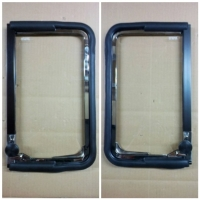 RARE VW VOLKSWAGEN BUS DOOR QUARTER VENT WINDOW FRAME AND GLASS COMPLETE SET FOR TYPE 2 1968 TO 1979