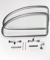 VW Early T1 Beetle Bug Rear Side Popout Window Complete Kits 1950-1964