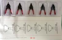 Mini retaining ring pliers set