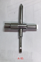 Cross type nozzle repair tool