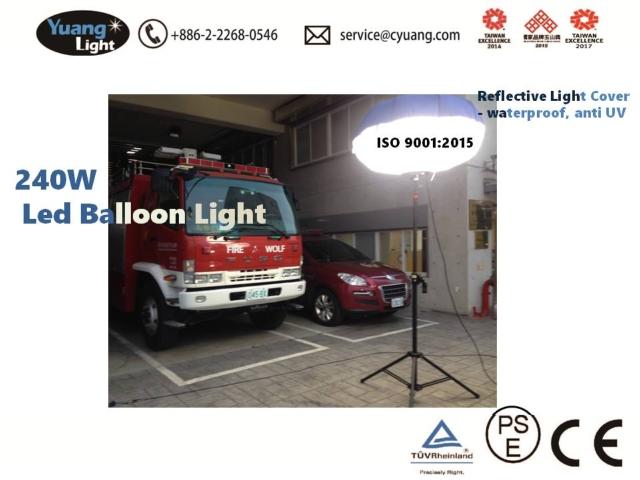 Yuang light 240W led balloon light