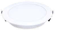 Concealed round panel light