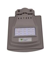 Integrated solar street light (lens)