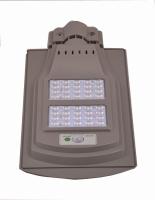 Integrated solar street light (reflection)