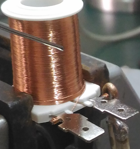 微細馬達錫焊接