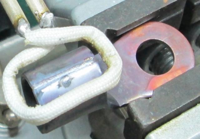 電線端子銀焊接、軟化