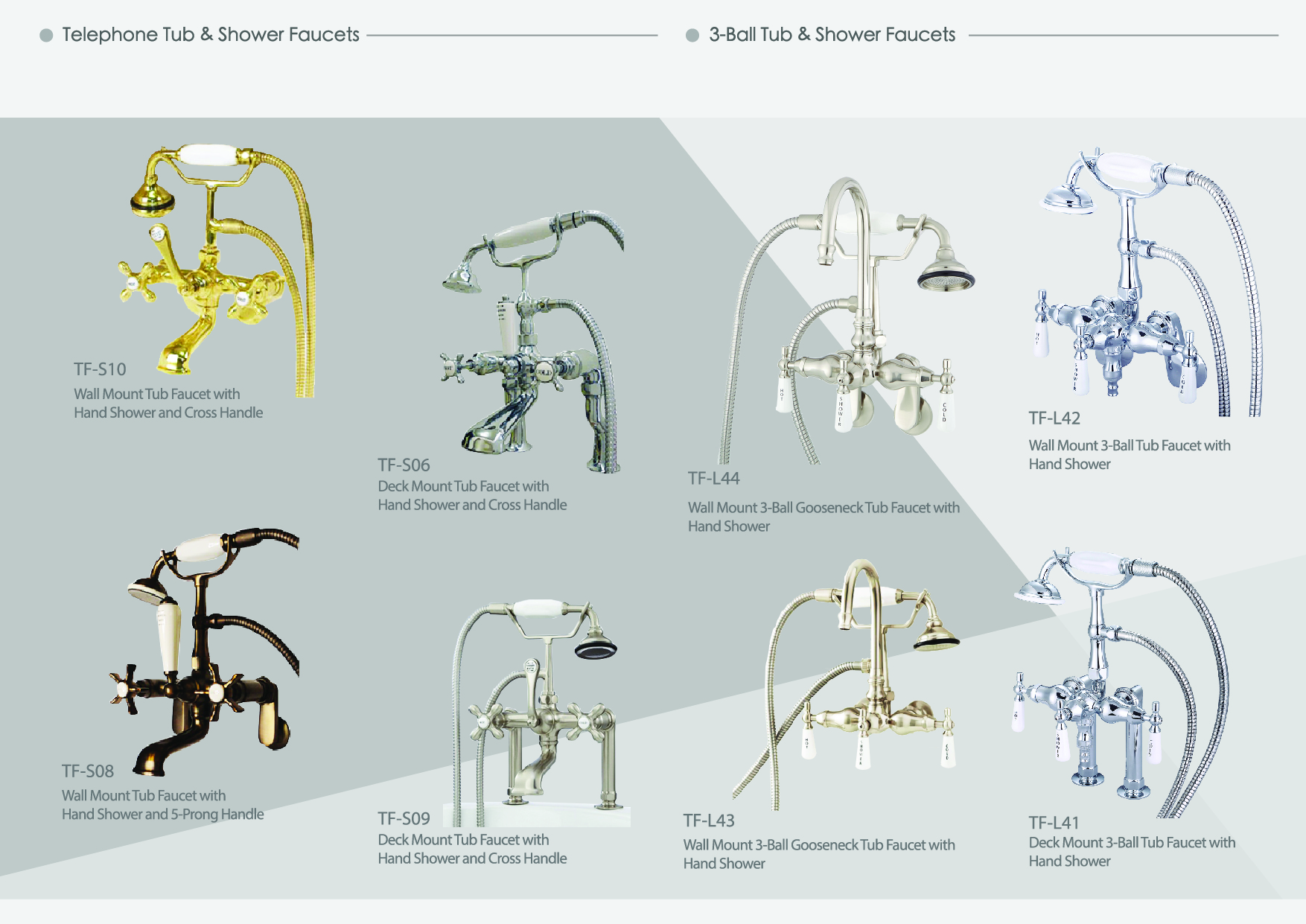 Traditional Tub & Shower Faucets