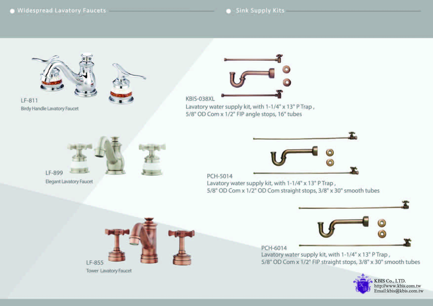 Widespread Lavatory Faucets & Sink Supply Kits