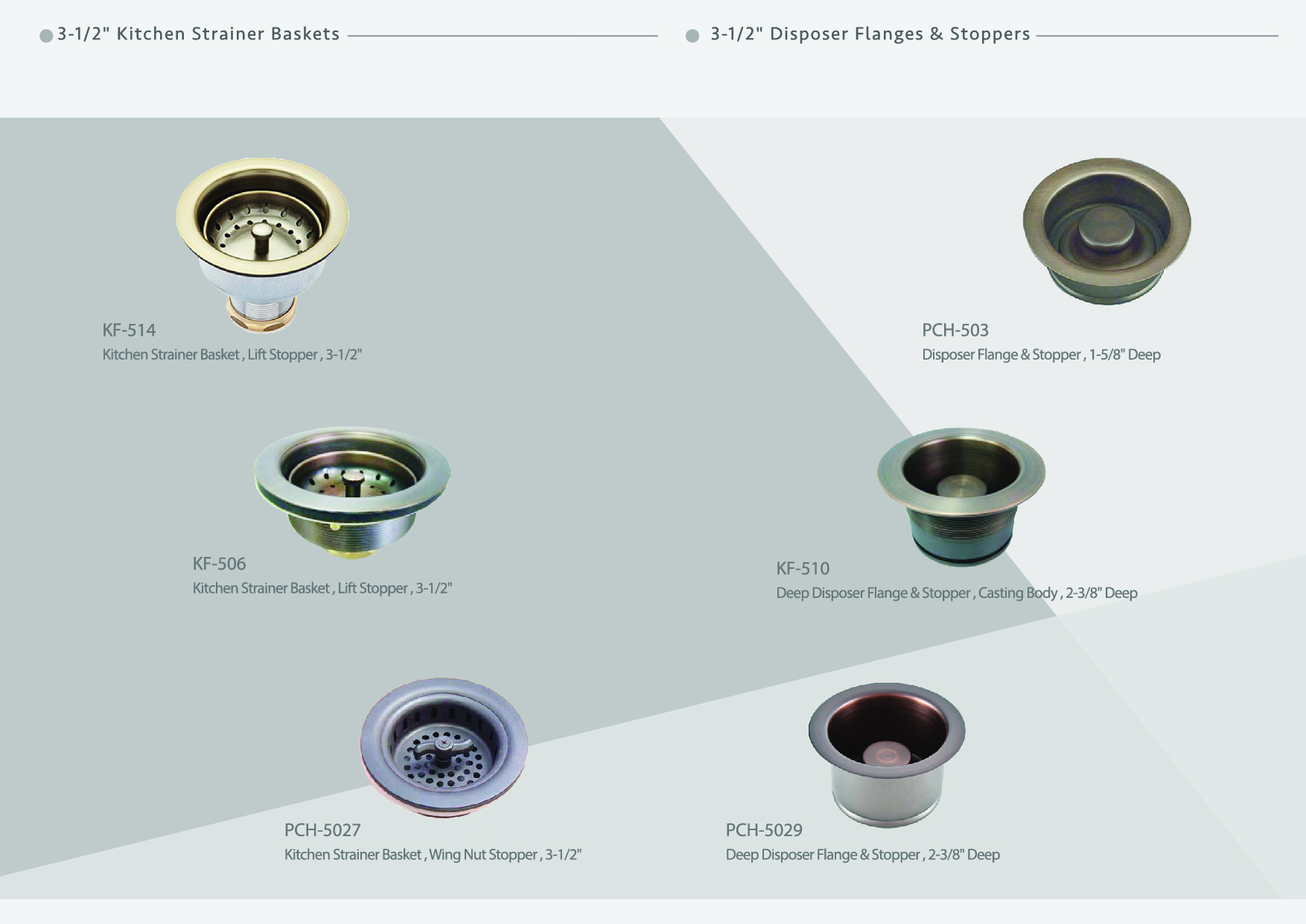 Cens.com 3-1/2 Kitchen Strainers & Disposer Flanges KITCHEN BATH INDUSTRY SUPPLY CO., LTD.