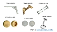 Cens.com HANDRAIL BRACKETS, CLOSET POLE SOCKETS, TABLE LEG BRACES, SUPPORTS 璨鸿企业有限公司