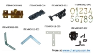 Cens.com OTHERS(DOOR BOLTS, CATCHES, MENDING PLATES, NUMBERS) CHAMP PROSPERITY ENTERPRISE CO., LTD.