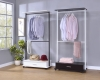 Wooden Drawer + Double-Shelf Coat Hanger