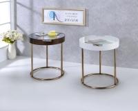 圆铁管边桌