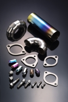 Titanium Parts : Flange / Bolt / Nut / Pie cut pipe