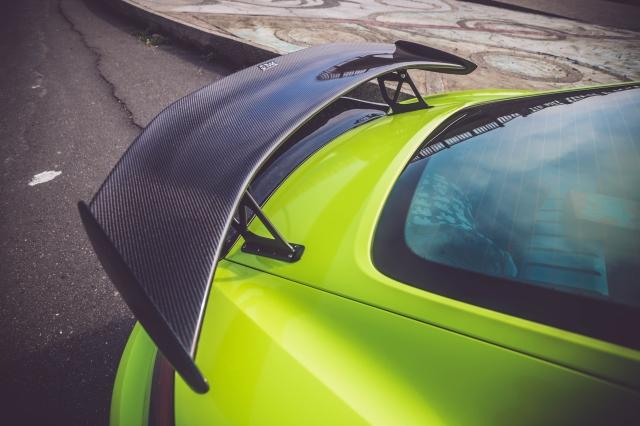 Porsche Carbon fiber GT4 look rear spoiler