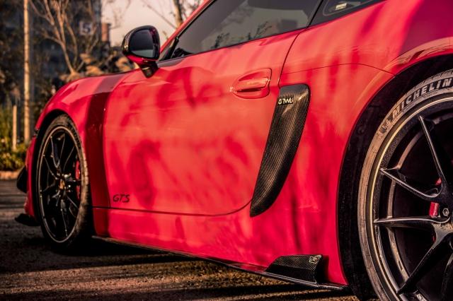 Porsche Carbon fiber side skirts version 2