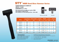 STY-NBR Dead Blow Hammer