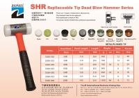 Replaceable tip Dead Blow Hammer SHR