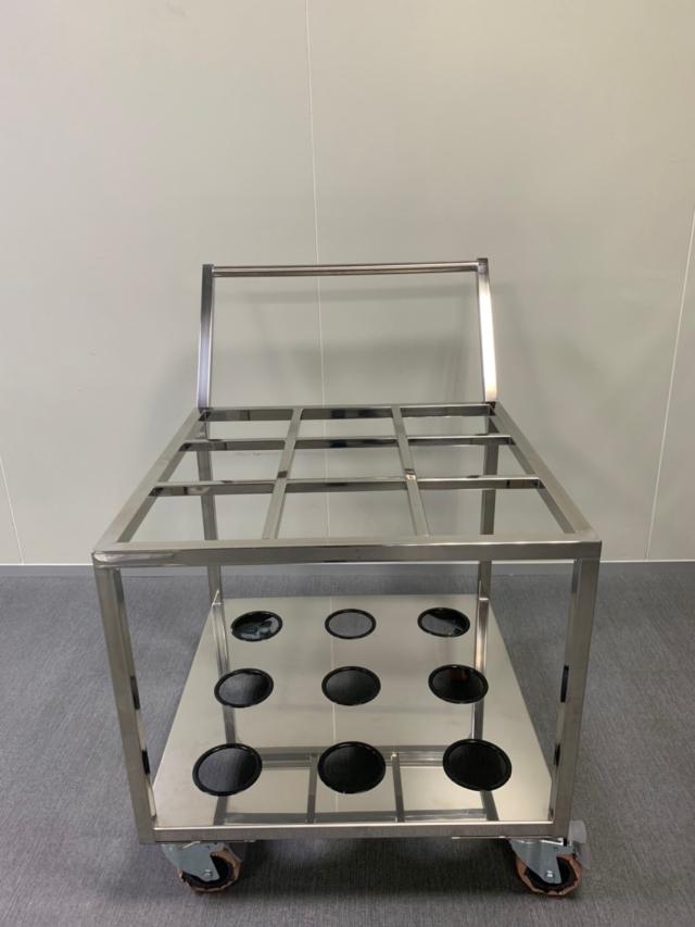 Cleanroom stainless steel carts/trolleys