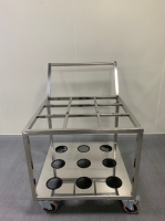 Cleanroom stainless steel carts/trolleys