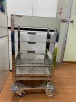 Cleanroom Anti-vibration Mute Trolley