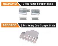 A634210 10 Pcs Razor Scraper Blade /A6352033 Pcs Heavy Duty Scraper Blade