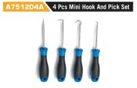 A751204A 4Pcs Mini Hook And Pick Set