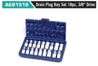 "A681518 Drain Plug Key Set 18pc, 3/8"" Drive"