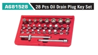 A681528 28 Pcs Oil Drain Plug Key Set