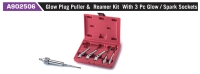 A902506 Glow Plug Puller & Reamer Kit With 3 Pc Glow / Spark Sockets