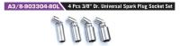 "A3/8-903304-80L 4 Pcs 3/8"" Dr. Universal Spark Plug Socket Set"