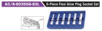 A3/8-903506-83L 6-Piece Flexi Glow Plug Socket Set